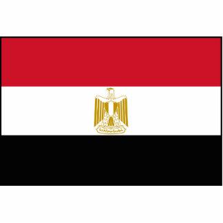 Egipto - bandeira egípcia foto esculturas