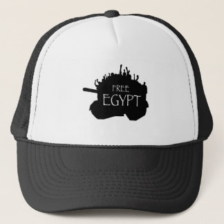 Egipto livre com protestadores boné