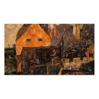Egon Schiele- Krumau no Molde Modelo Cartoes De Visitas