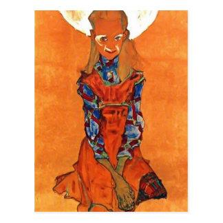 Egon Schiele- Poldi Lodzinsky Cartão Postal