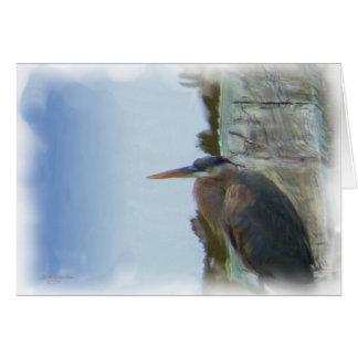 Egret ou garça-real - pensando de você - cartão
