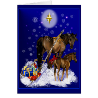 Égua do Natal e cartão do bebê