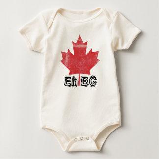 Eh BC!  Bebês feitos canadenses design do alfabeto Macacãozinho