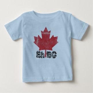 Eh BC!  Design BC feito canadense dos bebês Tshirt