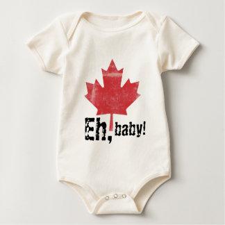 Eh, bebê!  Bebês feitos canadenses design Macacão