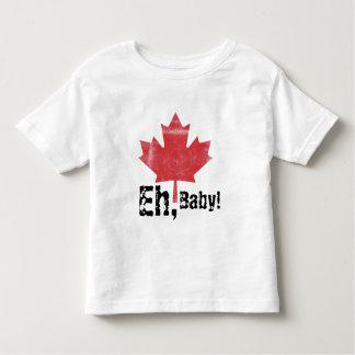 Eh, bebê!  Design feito canadense da criança Camiseta Infantil
