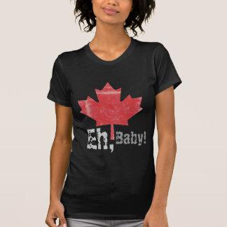 Eh, bebê!  Design orgulhosa canadense da folha de Tshirt