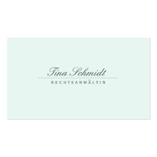 Einfache Elegante Rechtsanwalt Weiß Visitenkarte Cartão De Visita