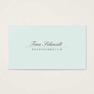 Einfache Elegante Rechtsanwalt Weiß Visitenkarte Cartão De Visitas