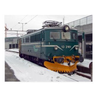 EL 13 da locomotiva elétrica de Ofotbanen em Trond Cartoes Postais
