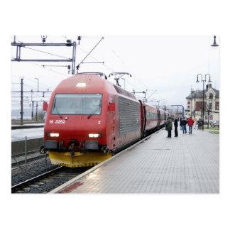 EL 18 da locomotiva elétrica do NSB em Lillehammer Cartão Postal