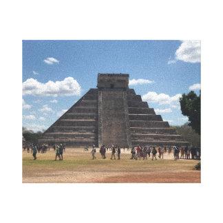 EL Castillo - Chichen Itza, canvas de México #2