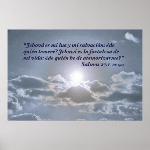 EL Cielo do engodo do 27:1 de Salmos Poster