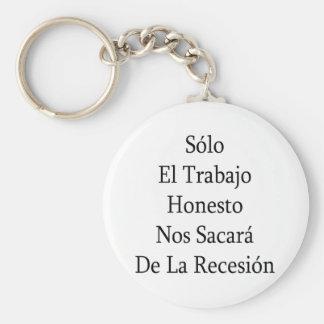 EL de solo Trabajo Honesto No. Sacara De La Recesi Chaveiro
