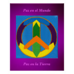 EL Mundo do en de Póster - de Paz Pôster