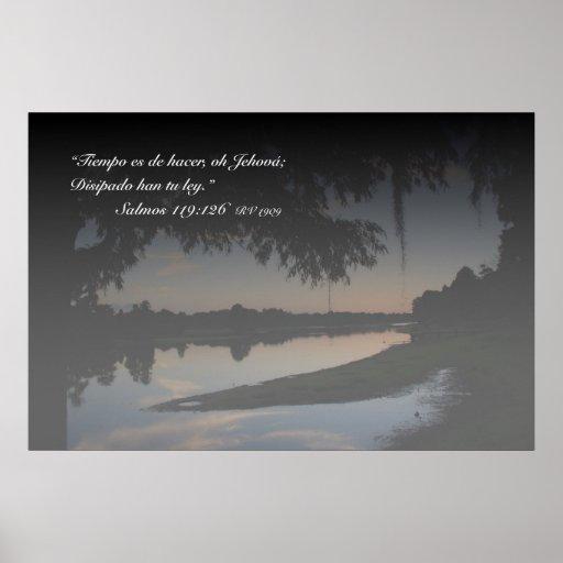 EL rio Hillsborough do engodo de Salmos 119-126 Posters