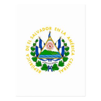 El Salvador - emblema/bandeira/brasão/símbolo Cartão Postal