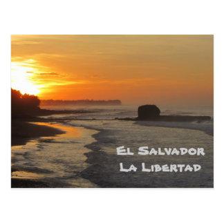 El Salvador, La Libertad, nascer do sol do EL Cartão Postal