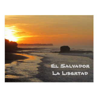 El Salvador, La Libertad, nascer do sol do EL Sunz Cartao Postal