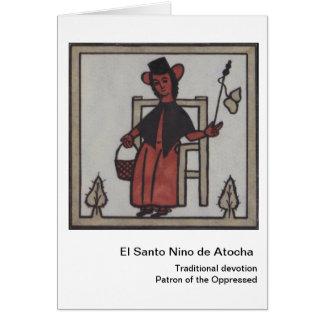 EL Santo Nino de Atocha Cartão
