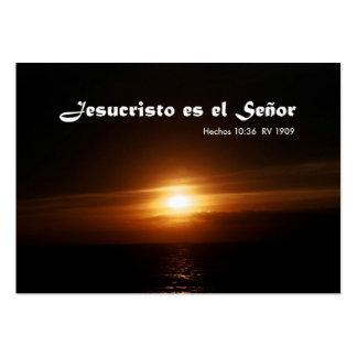 EL Señor de Jesucristo es (Carta pessoal) Cartão De Visita Grande