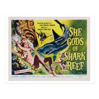 Ela deus do cartão 2 do filme do vintage do reff
