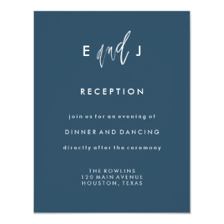 Cartão Ela e ele cartão da recepção de casamento de |