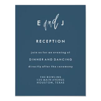 Ela e ele cartão da recepção de casamento de   convite 10.79 x 13.97cm