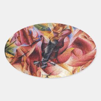 Elasticidade por Umberto Boccioni Adesivo Oval