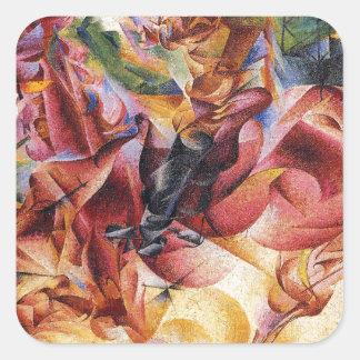 Elasticidade por Umberto Boccioni Adesivo Quadrado