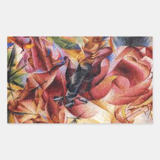 Elasticidade por Umberto Boccioni Adesivo Retangular