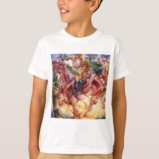 Elasticidade por Umberto Boccioni Camisetas