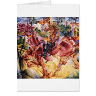 Elasticidade por Umberto Boccioni Cartão Comemorativo