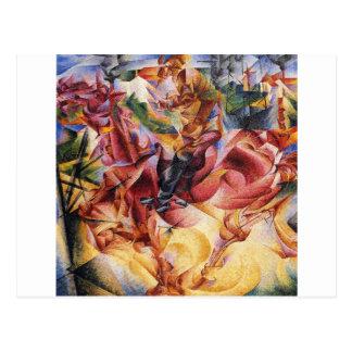 Elasticidade por Umberto Boccioni Cartão Postal