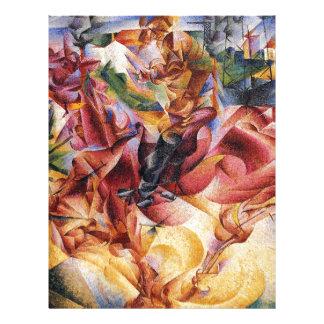 Elasticidade por Umberto Boccioni Papel Timbrado