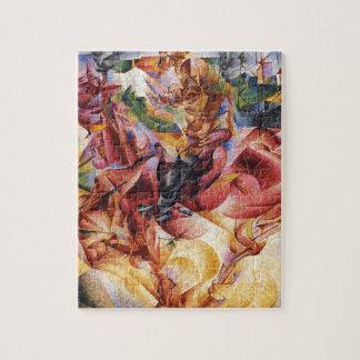 Elasticidade por Umberto Boccioni Quebra-cabeça