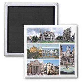 ELE * Italia - Roma - Roma Italia Ímã Quadrado
