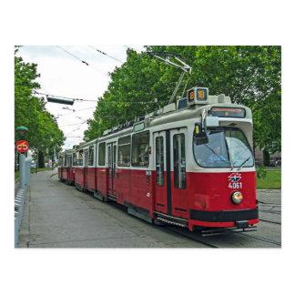 Eléctrico elétrico 2014 de Viena Cartão Postal