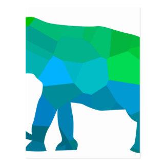 Elefante 1 do mosaico cartão postal