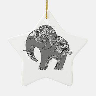 Elefante 4 ornamento de cerâmica