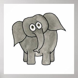 Elefante africano pôsteres