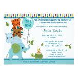 Elefante animal APK do convite do chá de fraldas Convite 12.7 X 17.78cm