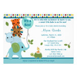 Elefante animal APK do convite do chá de fraldas d