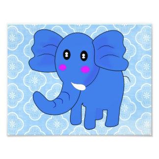 Elefante azul impressão de foto