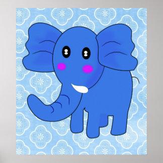 Elefante azul poster