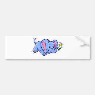 Elefante bonito com os miúdos do animal da selva adesivo para carro
