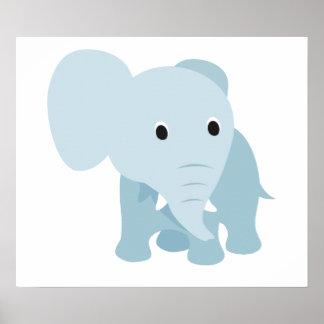 Elefante bonito do bebê impressão