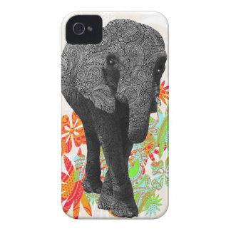 Elefante bonito do hippy capa para iPhone