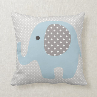 Elefante bonito dos azuis bebés almofada
