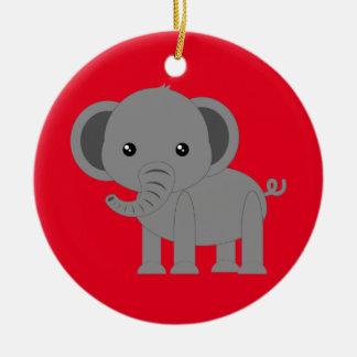 Elefante bonito ornamento de cerâmica